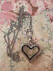 Large Floating Locket Rolo Chain 2 FREE Origami Owl Crystal Birthstone Charms