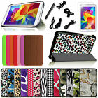 "8in1 Bundles Flip Leather Case Cover for Samsung Galaxy Tab 4 8.0"" 8-inch Tablet"