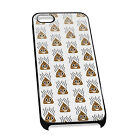 Cover for iPhone 4/5 Case #440 Emoji poo smiley gift idea funny sh*t turd lol