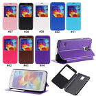Fashion Window PU Leather Stand Flip Case Cover For Samsung Galaxy S5 V i9600