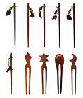 Wooden Hair Sticks Pins Asian Chinese Japanese Chopsticks Style Clip Decoration