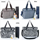 New Pretty  Baby Diaper Nappy Bag mummy bag  brown/ blue/ white (025)