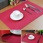 LUXURY RED Leatherboard Table mats Heat Pad waterproof Placemat Plaid Bowl Pad
