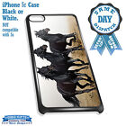 Cover for iPhone 5c Case #318 Black Beauty Horses Equestrian Great Gift Idea