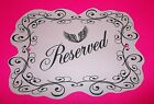 CUSTOM Wedding Couples Chair Signs & Sets Reception Table Decorations Props