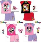 Girls Disney Minnie Mouse Shortie Pyjamas Age 12 Months to 8 Years