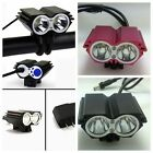 2x CREE XML U2 5000LM Front Head LED Bicycle Lamp Bike Light Headlamp Headlight