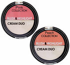 Soft Cream Blusher & Highlighter Duo in Rosy Pink or Peach Coral CHOOSE Shade