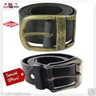 MENS FAUX LEATHER HIGH QUALITY STYLISH JEANS TROUSER WAIST BELT CASUAL FORMAL