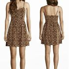 New Fashion Women's Sexy Leopard Floral Print Mini Dress Cocktail Party Clubwear