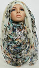 Butterfly Print Large Maxi Scarf/Hijab/Shawl/Wrap/Sarong/Stole Big Plain Floral