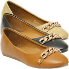 New Womens Ballerina Dolly Ladies Pumps Slip On Flat Casual Shoes Loafer Size uk