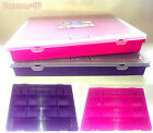 STORAGE ORGANISER BOX WITH 18 DIVISIONS BY WHAM (HOBBIES, CRAFTS,JEWELLERY, DIY)