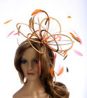 New Gold,Orange & Coral Pink Fascinator Hat  choose other colours in my shop