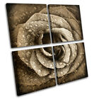 Rose Flowers Love Floral MULTI CANVAS WALL ART Picture Print VA