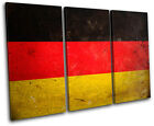 Abstract Germany Maps Flags TREBLE CANVAS WALL ART Picture Print VA