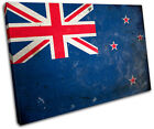 Abstract New Zealand Maps Flags SINGLE CANVAS WALL ART Picture Print VA