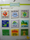 NEW 9 pc BABY BOUTIQUE LABELS * Your Choice * Sew Monster Diva Monkey BABYVILLE