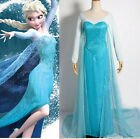 Halloween Ladies Frozen Elsa Princess Fancy Dress Adult Cosplay Costume S XXL
