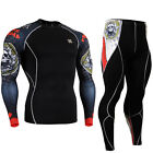 FIXGEAR CPD-SET-B5 Skin Compression under base layer shirt & tights MMA Fitness