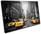 New York NYC Taxi Cab City SINGLE CANVAS WALL ART Picture Print VA