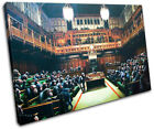Monkey Parliament Banksy Painting SINGLE CANVAS WALL ART Picture Print VA