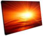 Sunset Design Abstract SINGLE CANVAS WALL ART Picture Print VA