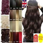pretty one piece thick half head Clip in Synthetic Hair Extensions real like own