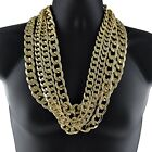 big link gold chain - Alloy Cuban Link Necklace Gold Finish 30
