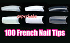 100 x WHITE, CLEAR, NATURAL FALSE FAKE ACRYLIC FRENCH NAILS TIPS MAKE UP SP