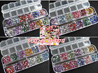3000pcs Rhinestones Nail Art Case Assorted Shapes for Acrylic Tips UV Gel DIY