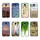 Good Vibes Hipster Quote Palm Tree Beach Hard Case For Samsung Galaxy S5 i9600
