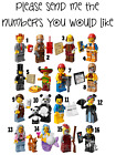 LEGO MOVIE STICKER WALL DECO DECAL PERSONALISED EMMET TACO MAN VELMA LOT