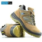 MENS LEATHER LIGHTWEIGHT SAFETY WORK BOOTS STEEL TOE CAP SHOES TRAINERS HIKER SZ