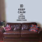 Keep Calm and listen to One Direction - 1D Boy Band Harry Styles Zane Wall Decal