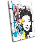 Abstract Girl Design Fashion SINGLE CANVAS WALL ART Picture Print VA