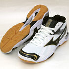 Mizuno Japan Men's WAVE STARDOM RX2 MID Volleyball Shoes White Black 2014 New