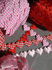 VINTAGE Gingham Ribbon Heart Cotton trim CRAFT card Classic gift sewing lace