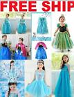 Nice Girls Dresses Disney Elsa Frozen dress costume Princess Anna party dresses
