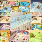 NURSERY BEDDING SET/4 SIDED BUMPER/LONG COT BUMPER/ALL ROUND BUMPER/COT/COTBED