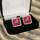 MOSCOW RUSSIA FLAG COAT OF ARMS MEN'S CUFFLINKS GIFT