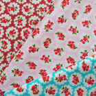 Freya  Vintage Inspired Floral Fabric 100% Cotton Poplin Per FQ