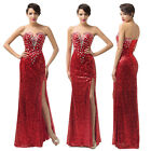 Red Bridesmaid Long Prom Party Formal Evening Dresses Size 6 8 10 12 14 16 18 20