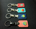 Magnetic Leather Key ring Heart Trim Key chain/Keychains Novelty Gifts