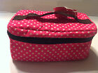 Polka Dot Insulated Cooler Picnic School Lunch Box Cool Bag Tote Food Carrier T3
