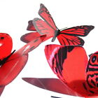 3D Butterflies - Red -  Weddings, Invitations, Cards, Cakes, Toppers