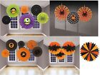 HALLOWEEN PARTY HANGING FAN DECORATIONS ALL IN ONE LISTING ASSORTED DESIGNS
