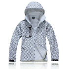 New Womens Soft Shell Hooded Outdoor Coats Camping Cycling Golf White Jackets