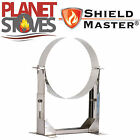 Stainless Steel Shieldmaster 80-130mm Wall Support For Twin Wall Flue Pipe