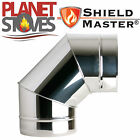 Stainless Steel Shieldmaster 90 Degree Elbow For Twin Wall Insulated Flue Pipe